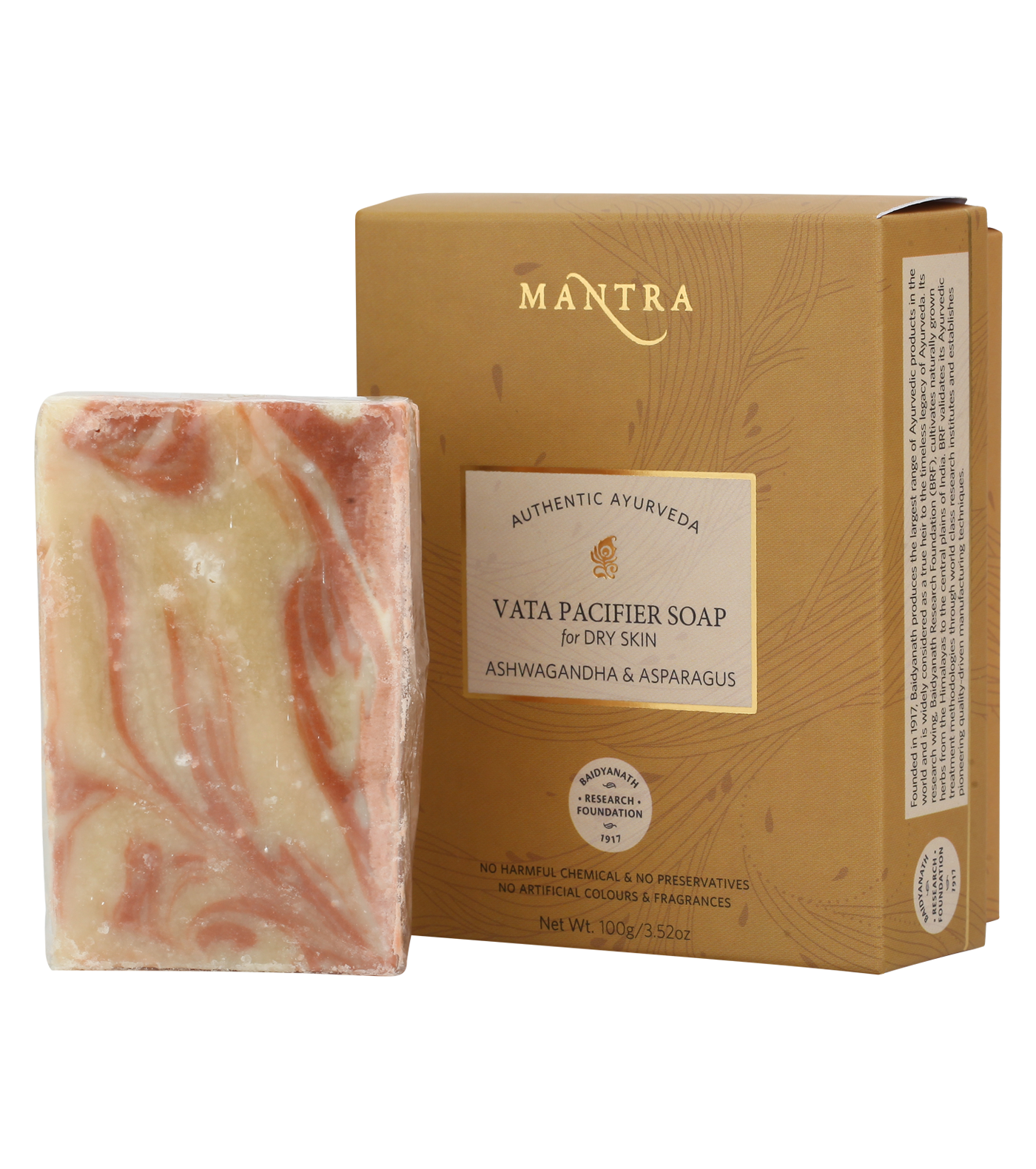 Vata Pacifier Soap for Dry Skin Ashwagandha & Asparagus