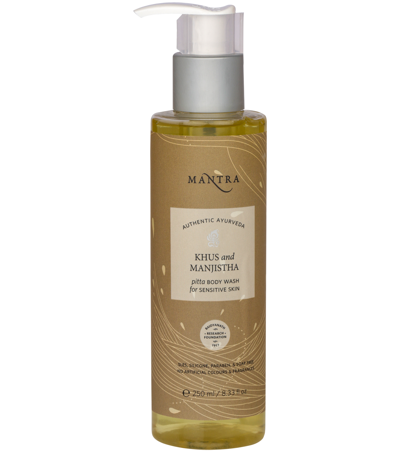 Khus and Manjistha Pitta Body Wash for Sensitive Skin