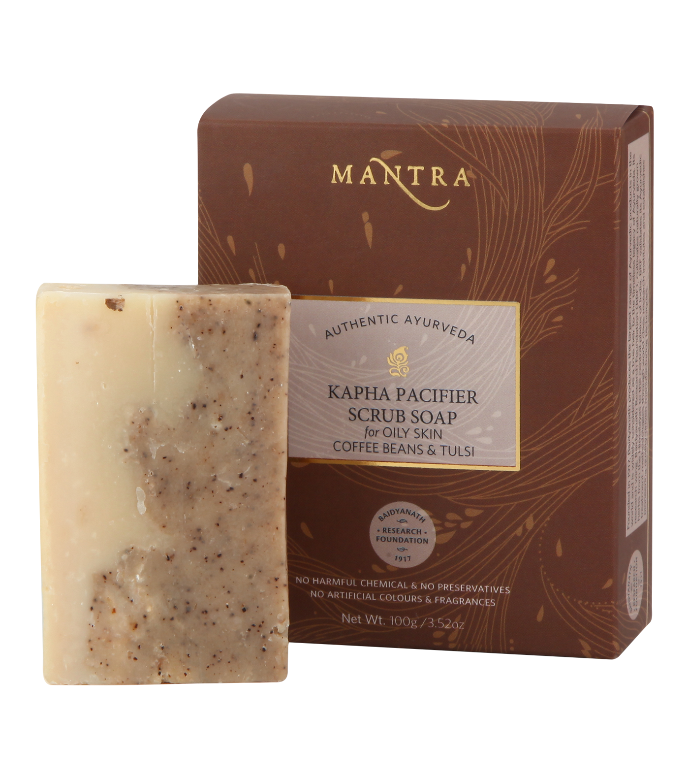 Kapha Pacifier Scrub Soap for Oily Skin Coffee Beans & Tulsi