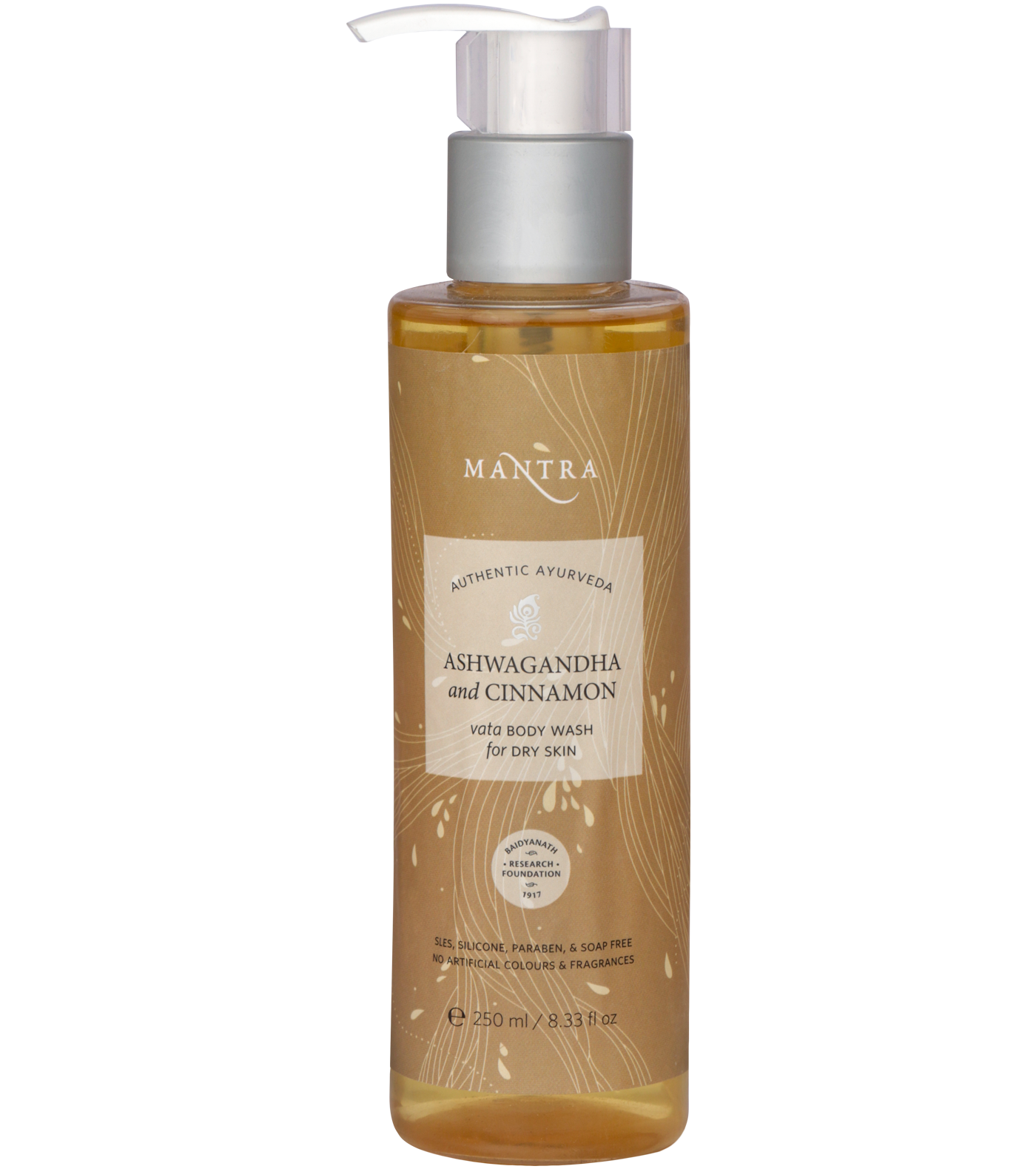 Ashwagandha and Cinnamon Vata Body Wash for Dry Skin